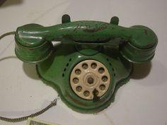 Vintage Metal Tin Phone Child Toy Rings 50s Neo 40S | eBay