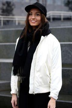 Samsøe Samsøe - Thoras Bomberjacket White Bomber Jacket, Jackets, Fashion, Down Jackets, Moda, La Mode, Bomber Jackets, Fasion, Fashion Models