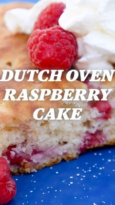 Strawberry Shortcake Discover Camp Recipe: Dutch Oven Raspberry Cake Have your cake and eat it (outside) too. This moist raspberry cake is prepared in a dutch oven making it the perfect dessert to enjoy around the campfire. Camping Desserts, Camping Meals, Raspberry Desserts, Raspberry Cake, Dutch Oven Desserts, Dutch Oven Camping, Dutch Oven Meals, Dutch Oven Breakfast, Campfire Food