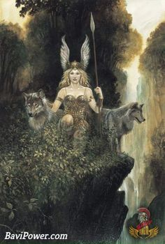 Who was Norse God of Love? Any god in the Norse pantheon embodied certain qualities that could distinguish them from others. In Norse mythology, there was also the god of love, in the sense of loving and being loved. She was goddess Freya - Norse God of L Thor, Norse Goddess, Valkyrie Norse Mythology, Wolf Goddess, Goddess Warrior, Celtic Mythology, Female Armor, Norse Vikings, Asatru
