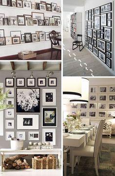 HOy les traigo una muy linda idea para decorar una pared... Llenarla de fotos, hay muchas maneras de decorar una pared con fotos ya sean sofisticadas o mas rusticas y quedan muy bien en cualquier lugar de la casa. Ya sea en el comedor el living, un pasillo, en la pared de la escalera o en un dormitorio. Por eso les
