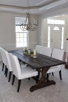 wide plank farmhouse table stained wood diy boards make yourself