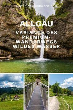 Der Premium-Wanderweg Wildes Wasser bei Oberstaufen im Allgäu führt von der Hündlebahn zur urigen Alpe Sonnhalde, den Buchenegger Wasserfällen,... #wandern #wanderung #allgäu #bayern