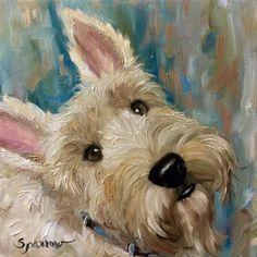 Arte de Scottie escocés Terrier Wheaten por HangingtheMoonShelby