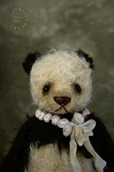 Panda Penny, Vintage Style Panda Artist Teddy Bear from Aerlinn Bears
