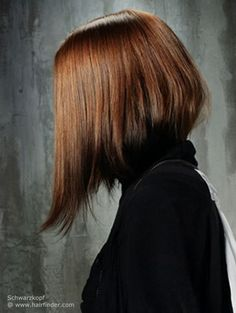 The long A-line bob. This is the hairstyle I'd get if my hair was as thick as the model's.