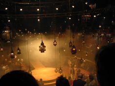 Arabian Nights  Set Design. Can't say enough about hanging lanterns!