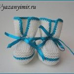 It is a website for handmade creations,with free patterns for croshet and knitting , in many techniques & designs. All Free Crochet, Knit Crochet, Knit Baby Booties, Baby Slippers, Knitting Videos, Baby Knitting, Knitted Baby, Handicraft, Lana