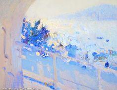 source : bato dugarzhapov 20I4 _  collection art moderne contemporain paysage mer marin (sea blue landscape) palette bleue