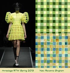 Mad For Plaid Is Fashionable In Mosaic Tile is in fashion on the runway and at home.