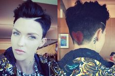Ruby Rose has taken her trademark undercut to whole new level.