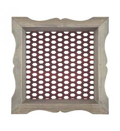 WOODEN_METAL WALL DECO IN BROWN_RED COLOR 33Χ14Χ33