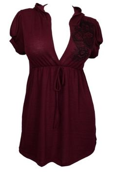 eVogues Plus size Low Cut V-neck Hoodie Top Burgundy -  eVogues Apparel http://smile.amazon.com/dp/B00FKNPG7Y/ref=cm_sw_r_pi_dp_dix9tb09V1X1H
