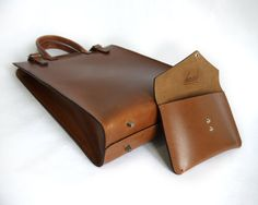 Men's/Women's Light Brown Leather Tote/Carryall by BasAder on Etsy, $240.00