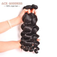 8A Peruvian Virgin Hair Loose Wave 1 Bundle Human Hair Extensions Peruvian Curly Hair Loose Wave Deals 8-26inch Human Hair Weave
