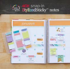 Forget me not with on the spot note taking!  Whether you're jotting down a reminder, marking a page or noting a deadline, stop & stick wherever, whenever. #ErinCondren