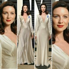 The always classy Caitriona Balfe at the Vanity Fair Oscars party, in one of the prettiest gowns I've seen in a while.