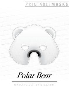 Polar Bear Printable Animal Mask, Halloween, # #polarbear #printable #animalmask #halloween #arcticwhite #charactermask #birthdays #partythemes #photobooth #props #theater #kids #play Printable Halloween Masks, Printable Animal Masks, Animal Themed Birthday Party, Birthday Party Themes, Bird Masks, Themes Photo, Kids Party Themes, Photo Booth Props, Polar Bear