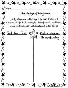 Here's a graphic organizer for helping students understand the meaning of the Pledge of Allegiance.