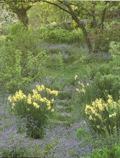 """Tasha Tudor's Garden. """"...there is something about the beauty of a May garden..."""", excerpt from the book A Garden for Allegra."""