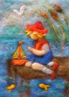 Cornelia Lauwaert copyright © 2013 - All rights reserved Wet Felting, Needle Felting, Felt Wall Hanging, Waldorf Crafts, Felt Pictures, Wool Art, Felt Brooch, Felt Dolls, Soft Sculpture