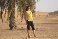 Sandrina Nufer in der Wüste, Travelhouse Reiseblog Dubai, Hotels, Strand, Capri Pants, Viajes, Capri Pants Outfits, Capri Trousers