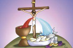 Miséricorde Divine, Divine Mercy, Jesus Cartoon, Jesus Artwork, Bible Images, Jesus Christ Images, Jesus Painting, Catholic Kids, Corpus Christi