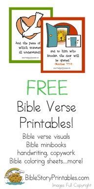 sunday school FREE BIBLE VERSE PRINTABLE