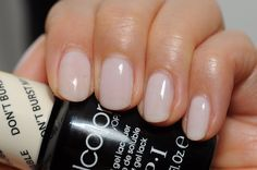 """Just got this in gel....perfect for wedding nails ;). """"Don't burst my bubble"""" by O.P.I"""
