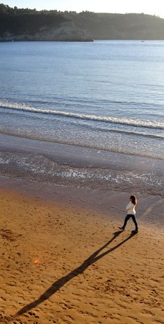 Sombra en la playa