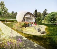 """Budynek-głaz stanie nad Wisłą. """"To ukłon w stronę natury"""". http://tvnwarszawa.tvn24.pl/informacje,news,budynek-glaz-stanie-nad-wisla-to-uklon-w-strone-natury,165961.html"""