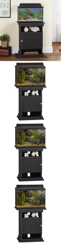 aquariums and tanks aquarium stand 10 20 gallon storage cabinet fish tank holder wood