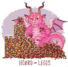 Amusing Illustrations Featuring Dragons and Their Unusual Hoards They are so funny!!