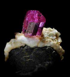 Nice Dark Pink Topaz - Katlang, Mardan District, Khyber Pakhtunkhwa, Pakistan Amazing Geologist