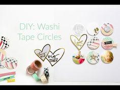 DIY WASHI TAPE PAPER EMBELLISHMENTS - Washi Tape Appliques Easy Paper Embellishments - YouTube - Faith Unedited
