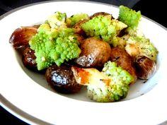 CHOU ROMANESCO AUX POMMES GRENAILLE Marmite, Wok, Chou Romanesco, Baked Potato, Cauliflower, Gluten, Potatoes, Snacks, Baking