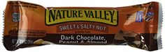Nature Valley Sweet  Salty Nut Granola Bars Dark Chocolate Peanut  Almond Flavor 1 Box  6 Bars 2 Pack * Details can be found by clicking on the image. (This is an affiliate link and I receive a commission for the sales)