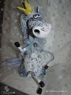 лошадка папье-маше