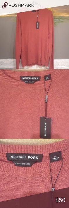 NWT Michael Kors Cashmere Sweater Long sleeve Italian cashmere men's . Michael Kors Sweaters Cardigan