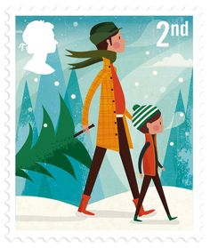 My Royal Mail Holiday Stamps are out today! This is a dream project that I'm truly humbled to have been asked to do. These are 100% Queen approved.