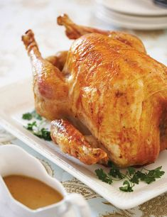 Old-Fashioned Roast Turkey and Gravy Recipe - ATK - Good, very, very juicy breast meat.  However, I'm not a turkey fan, and it didn't do anything to win me over - CW