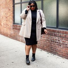 17 Instagrams That Prove Plus-Size Girls Can Do Minimal Fashion #refinery29  http://www.refinery29.com/plus-size-fall-fashion-instagram#slide-2  Oh, hey! That's me. My current mood: Bury me in a turtleneck and camel coat.