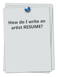 How To Write An Artist Resume Artist Resume  Google Search  Interesting Visual Resumes .