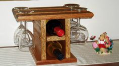 Countertop Wine Bottle & Glass Storage by HasteEngineering on Etsy, $50.00