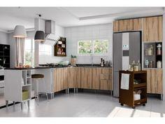 Cozinha Completa Líder Casa Aroma - 8 Portas 3 Gavetas 5 Nichos
