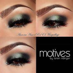 Amazing green smokey eye makeup