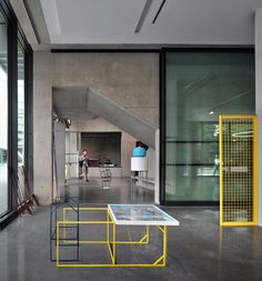 Image 9 of 37 from gallery of Dyson Building / Haworth Tompkins. Courtesy of Haworth Tompkins Royal College Of Art, London Art, Dezeen, Ping Pong Table, Interior Architecture, Gallery, Building, Furniture, Industrial