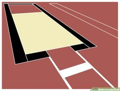 How to Long Jump. The long jump is a track and field event that requires speed in addition to a strong jump. Learning the long jump may seem like a tricky task but if you break it down the steps are actually quite simple. Triple Jump, Track Team, Long Jump, Running Club, Track And Field, Cross Country, Drills, Stretches, Coaching