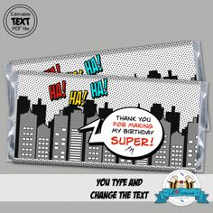 Editable Superheroes Bag Toppers - Super Hero Personalized printables will save you time and money while making your planning a snap! Girl Superhero Party, Superhero Baby Shower, Chalkboard Art Quotes, Canvas Art Quotes, Baby Shower Printables, Party Printables, Jordan Baby Shower, Pop Art Party, Art Therapy Directives