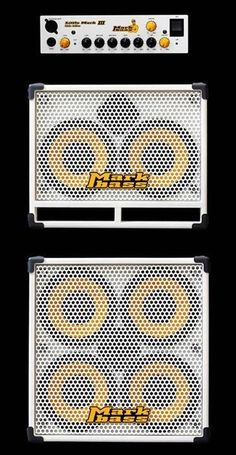 Markbass Bass Rig in White Color - Mark Guitar Amp, Cool Guitar, Acoustic Guitar, Guitar Shelf, Gretsch, Subwoofer Box, Bass Amps, Pedalboard, Custom Guitars
